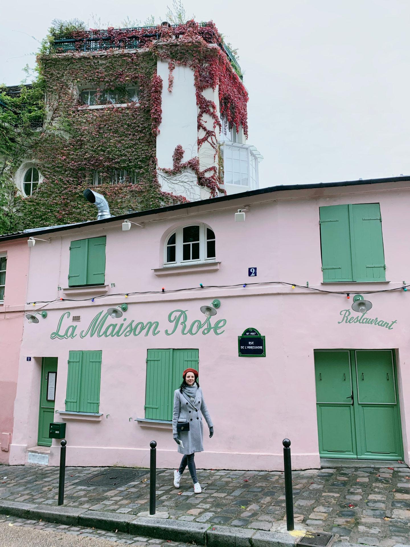 La maison Rose, the most instagrammable places in Paris.