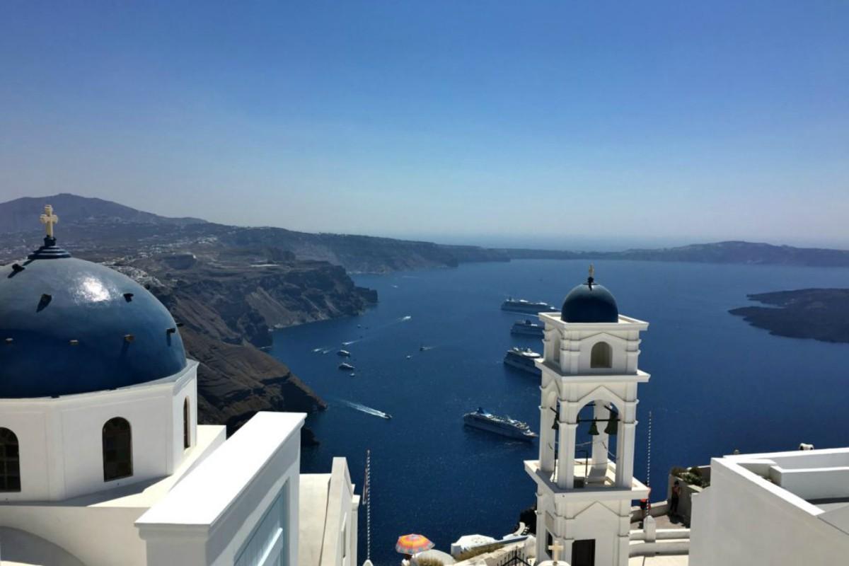 Santorini, a magical island in the Aegean Sea