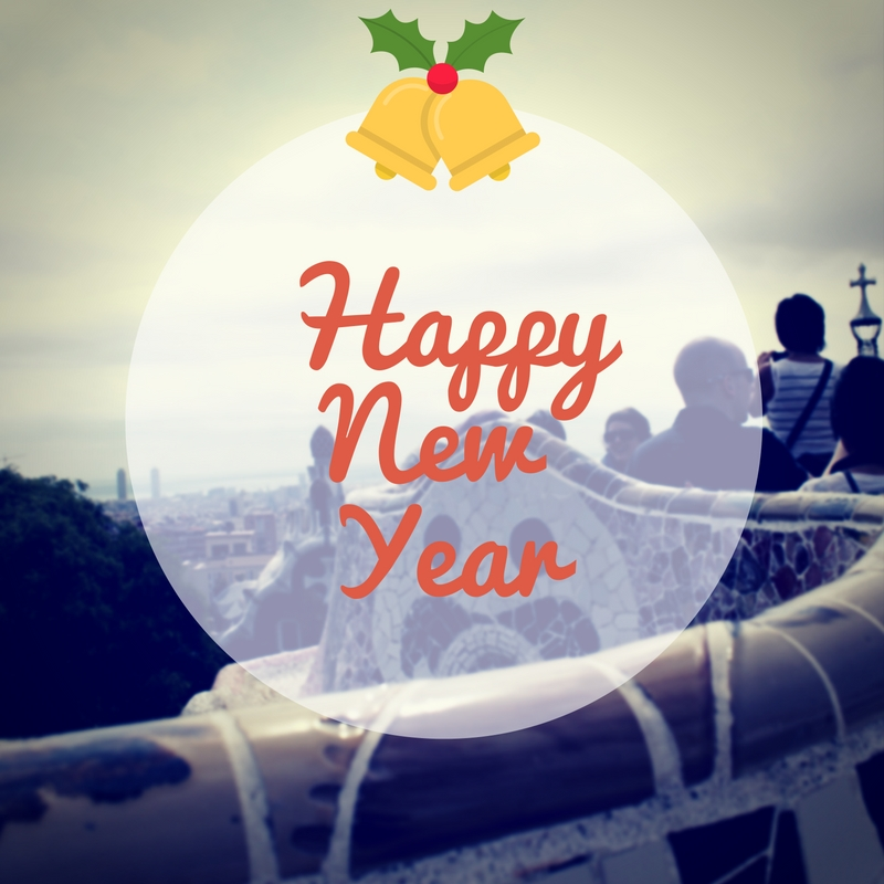 Best wishes for the New Year from Barcelona