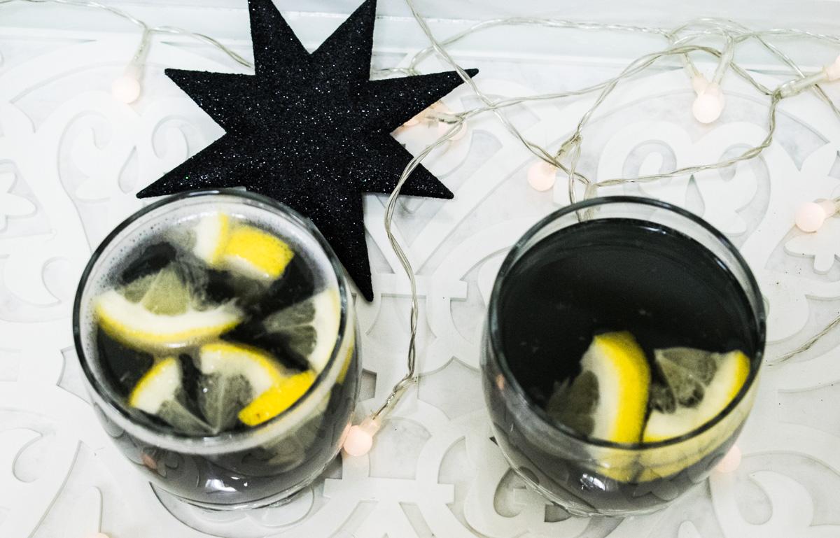 Detox primaveral con limonada negra