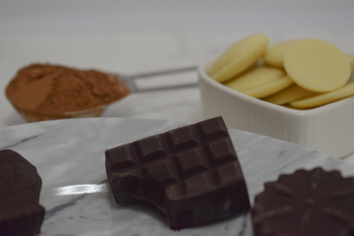 Irresistible chocolate pralinés with cocoa butter